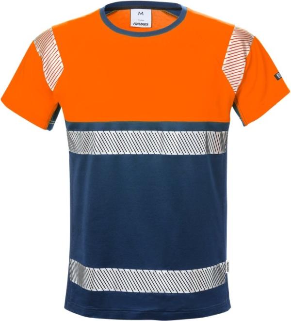 Fristads - High Vis T-Shirt, Kl. 1 7518 THV Warnschutz-Orange/Marine XS