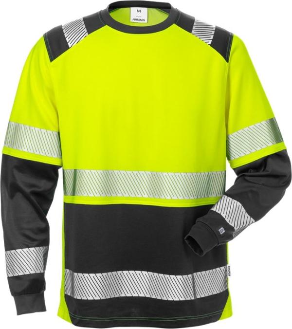 Fristads - High Vis T-Shirt Langarm, Kl. 2 7457 THV Warnschutz-Gelb/Schwarz XS