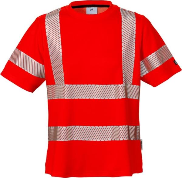 Fristads - High Vis Damen-T-Shirt, Kl. 2 7458 THV Warnschutz-Rot XS