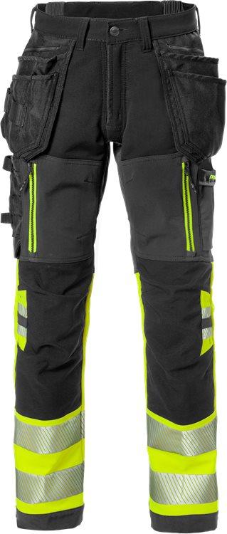 Fristads - High Vis Stretch-Handwerkerhose Kl. 1 2568 STP Warnschutz-Gelb/Schwarz C44