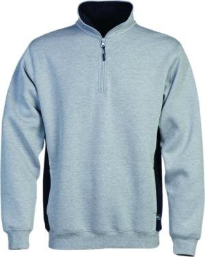 Acode Zipper-Sweatshirt 1705 DF Hellgrau 3XL