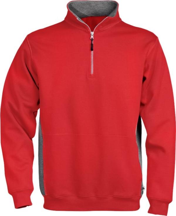 Fristads - Acode Zipper-Sweatshirt 1705 DF Rot XS