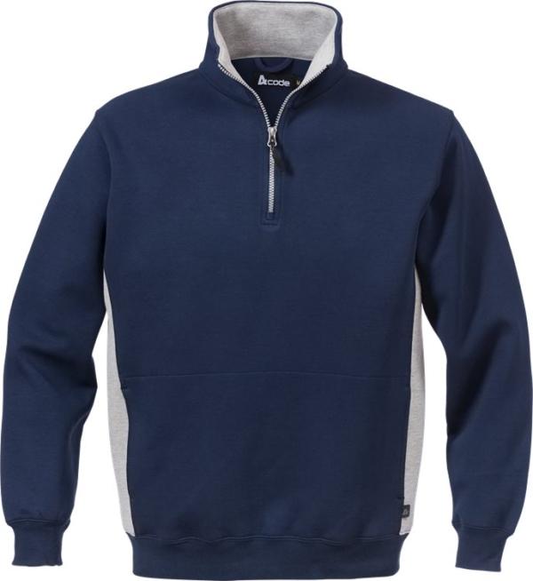 Fristads - Acode Zipper-Sweatshirt 1705 DF Marine/Grau XS