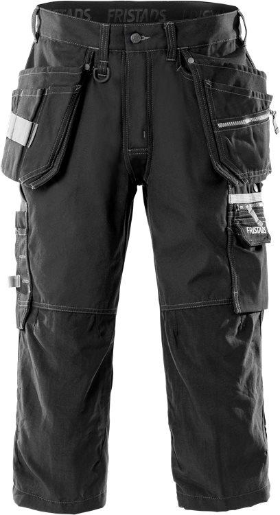 Fristads - 3/4 Handwerkerhose 2124 CYD Schwarz C44