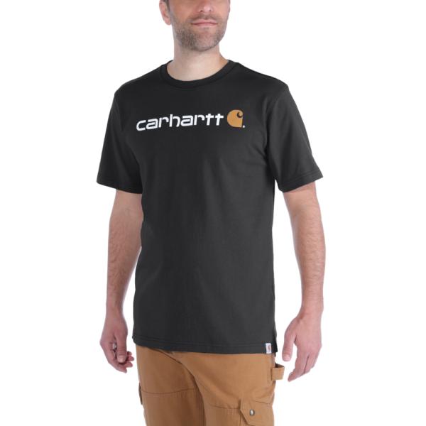 Carhartt - CORE LOGO T-SHIRT S/S XXL BLACK