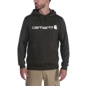 Carhartt - DELMONT GRAPHIC HOODED SWEATSHIRT XXL BLACK HEATHER