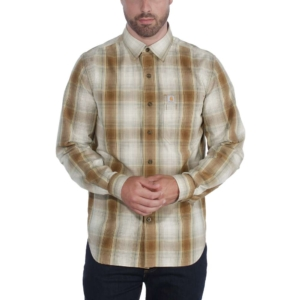 Carhartt - ESSENTIAL PLAID SHIRT L/S XXL OILED WALNUT