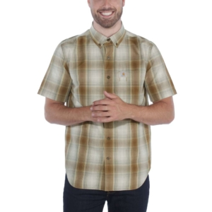 Carhartt - ESSENTIAL PLAID SHIRT S/S XXL OILED WALNUT