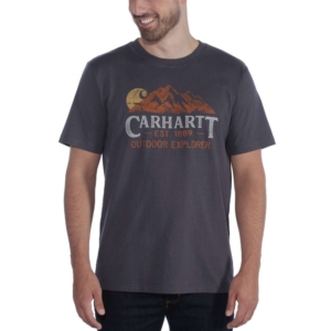 Carhartt - EXPLORER GRAPHIC T-SHIRT S/S XXL BLUESTONE