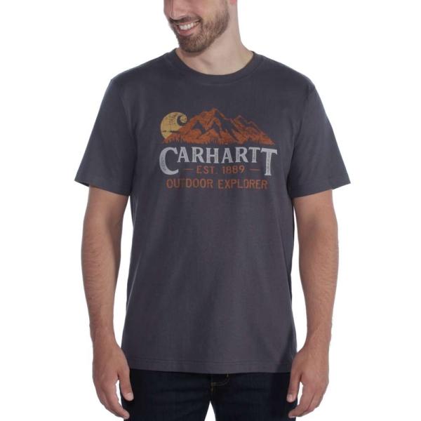 Carhartt - EXPLORER GRAPHIC T-SHIRT S/S XXL BLUESTONE