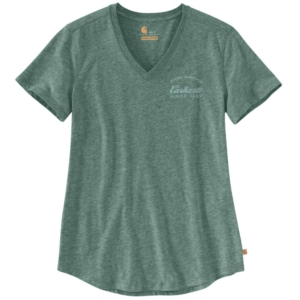 Carhartt - LOCKHART GRAPHIC V-NECK T-SHIRT XL MUSK GREEN HEATHER NEP