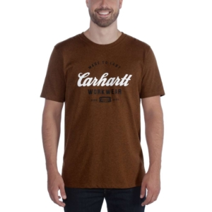 Carhartt - MADE TO LAST S/S T-SHIRT S OILED WALNUT HEATHER