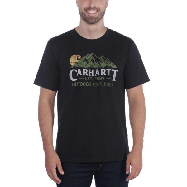 Carhartt - EXPLORER GRAPHIC T-SHIRT S/S S BLACK