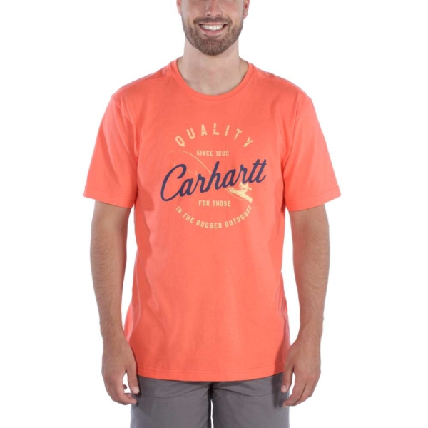 Carhartt - SOUTHERN GRAPHIC T-SHIRT S/S S HOT CORAL