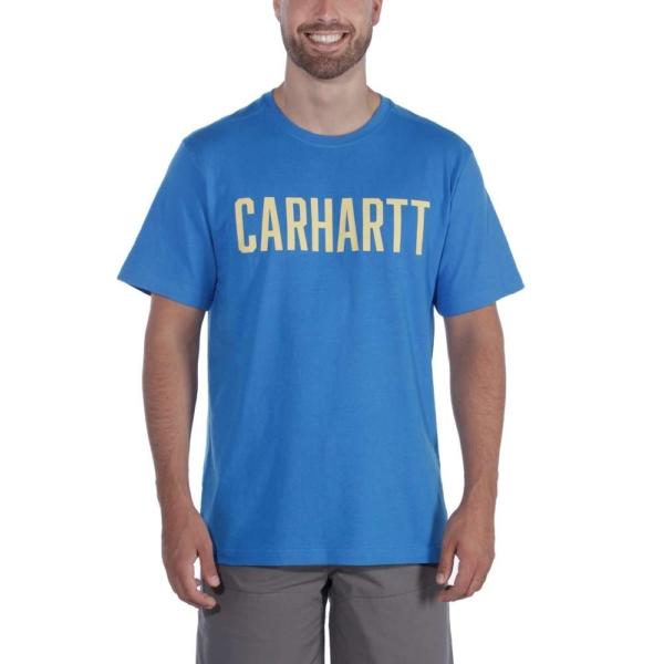 Carhartt - SOUTHERN BLOCK LOGO T-SHIRT S/S S BOLT BLUE