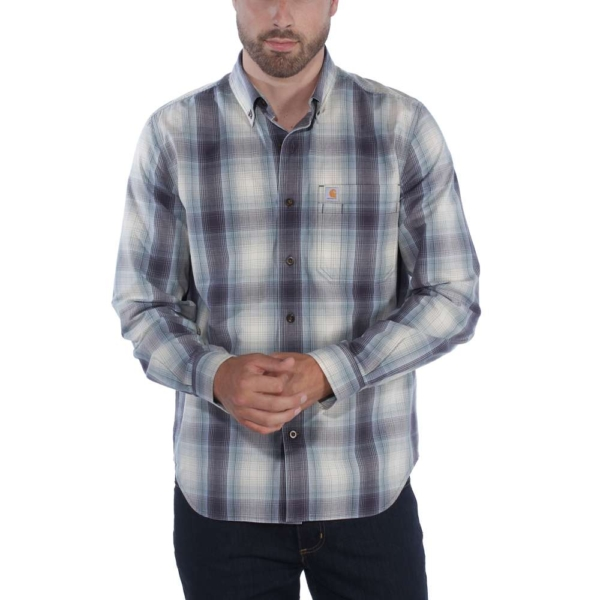 Carhartt - ESSENTIAL PLAID SHIRT L/S S BLUESTONE