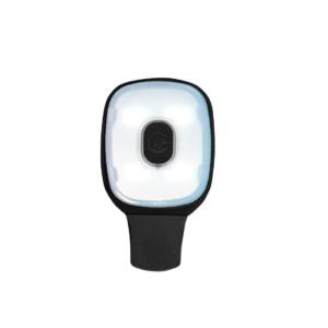 HV12 - USB wiederaufladbarer Lichtclip Schwarz