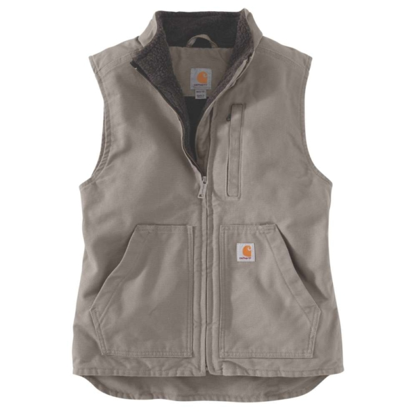 SHERPA LINED MOCK NECK VEST, XS, TAUPE GREY TAUPE GREY XL