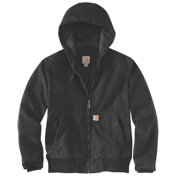 WASHED DUCK ACTIVE JACKETS, XS, BLACK BLACK XL