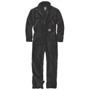WASHED DUCK INSULATED COVERALL, S, BLACK BLACK 4XL