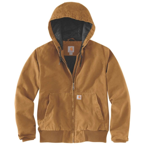 WASHED DUCK ACTIVE JACKETS, XS, BLACK CARHARTT® BROWN XS