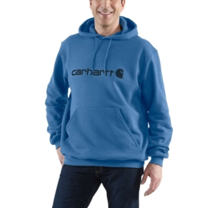 SIGNATURE LOGO SWEATSHIRT, COASTAL HEATHER Blau XXL
