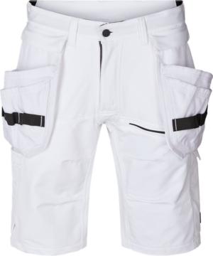Evolve Handwerker Stretch-Shorts, C44, Weiss Weiß C66